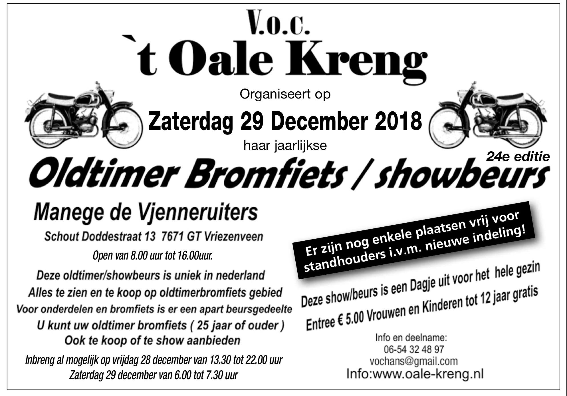 Oldtimer Bromfiets Show & Beurs – Vriezenveen