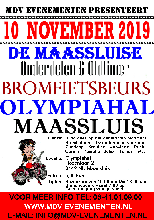 Maassluise Onderdelen & Oldtimer Bromfietsbeurs
