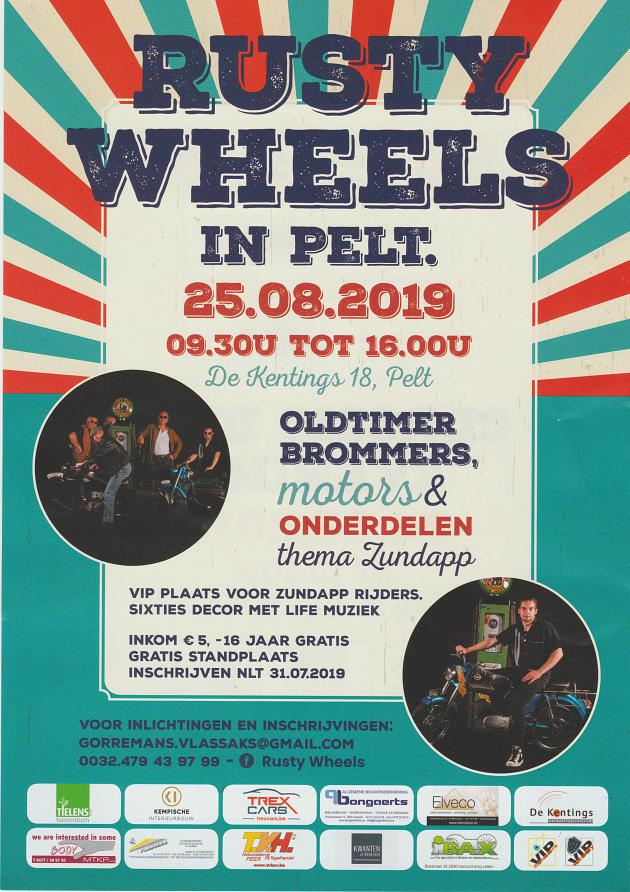 Rusty Wheels - Pelt  België